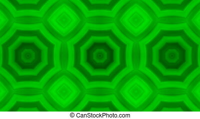 kaleidoscopic animation background - VJ Fractal green...