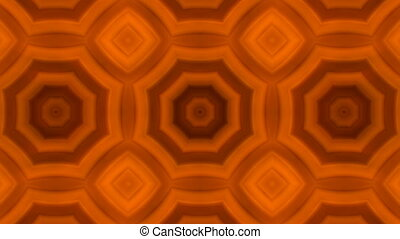 kaleidoscopic animation background - VJ Fractal orange...