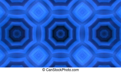 kaleidoscopic animation background - VJ Fractal blue...