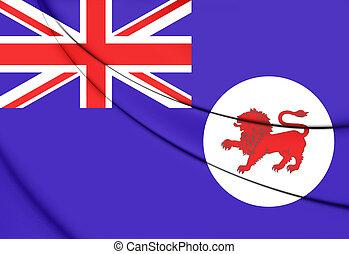 Flag of Tasmania, Australia 3D Illustration