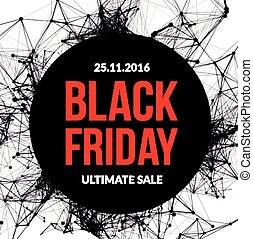 Black friday sale Vector illustration on white background