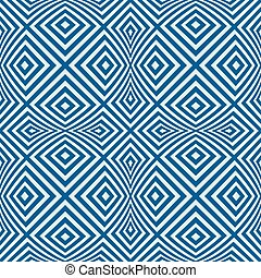 Vector endless geometric pattern composed with squares and...