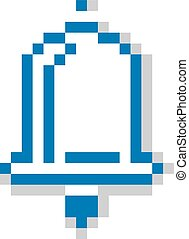 Vector pixel icon isolated, 8bit graphic element Simplistic...