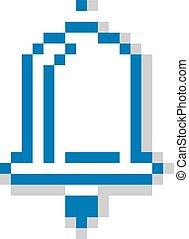 Vector pixel icon isolated, 8bit graphic element. Simplistic...