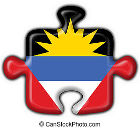 Antigua & Barbuda button flag puzzle shape
