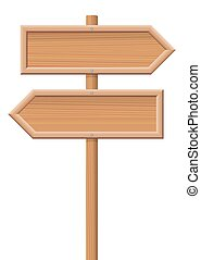 Wooden Sign Posts Two Directions