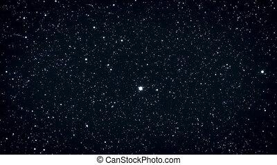 Seamless loop of twinkling stars