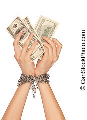 arrested counterfeiter - The arrested counterfeiter with...