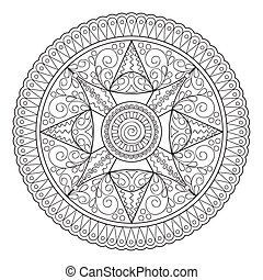 mandala oriental motifs - Mandala with hand drawn elements....