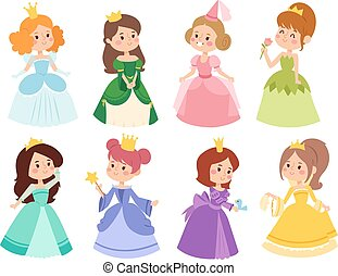 Princess vector set.