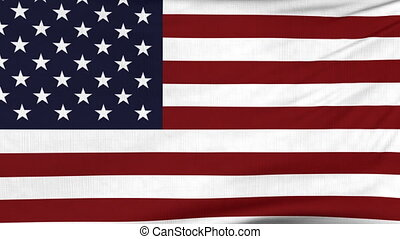 National flag of United States flying on the wind