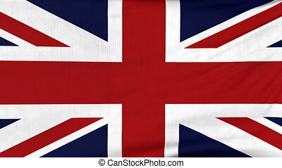 National flag of United Kingdom flying on the wind -...