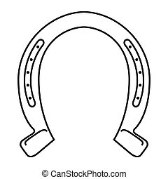 horseshoe luck metal wild west icon graphic isolated vector