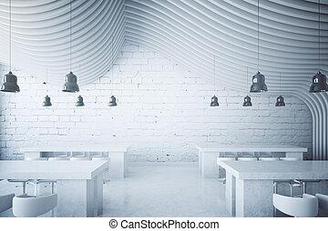 blanc, brique, dîner, secteur
