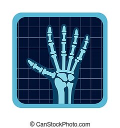 x rays test icon vector illustration design