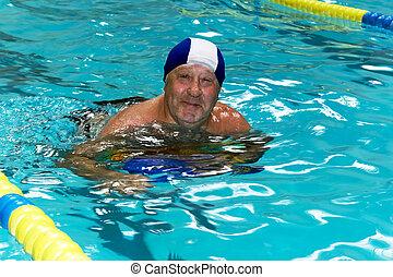 Active happy senior