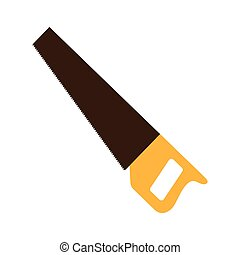 handsaw service tool icon vector illustration design