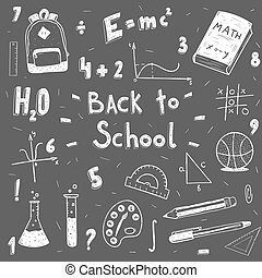 back to school doodle set.