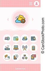 icon set internet  vector