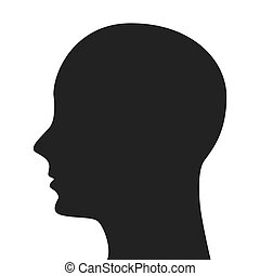 man head silhouette profile icon vector isolated graphic