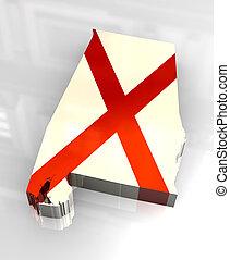 3d flag flag of Alabama - 3d made - flag flag of Alabama