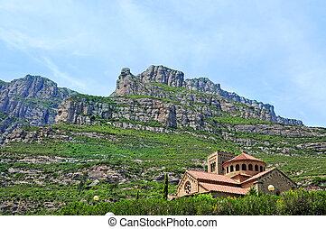Montserrat mountain, in Spain