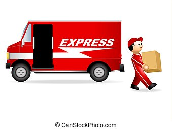 Iconic Figure_Package Service - Illustration of iconic...