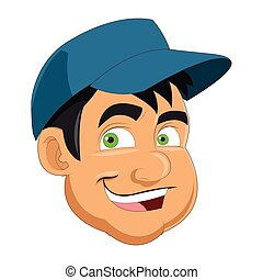 face of man wearing hat icon