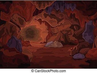 Magic Cave - Illustration of a magic cave