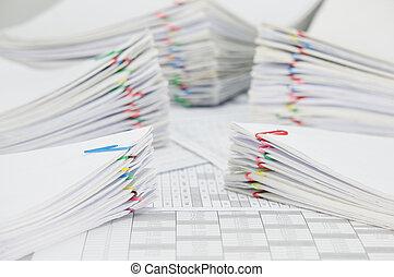 賬戶, 文書工作, 財政, 超載, 堆, 迷離, 地方, 文件