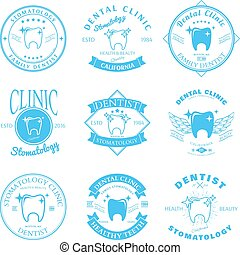 Set of dental clinic logo templates. Vector