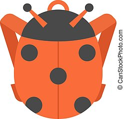 School bag vector isolated - Kid school bag isolated on...