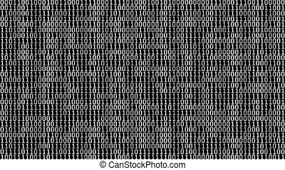 Binary Digits Screensaver 60fps - Full screen saver black...