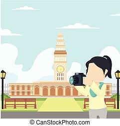 girl selfie in fransisco