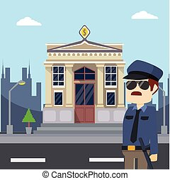 police in bank