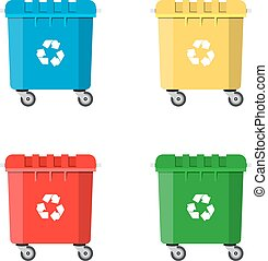 Set Recycle Bins for Trash and Garbage