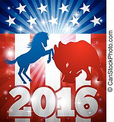 2016 American Election Concept - 2016 American election...