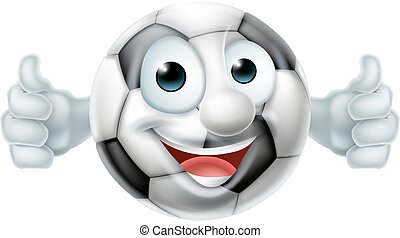 Cartoon Football Ball Man - Cartoon soccer football ball man...