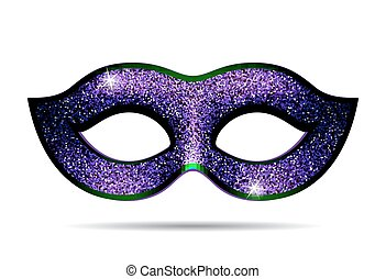 Violet shining carnival mask for masquerade costume....