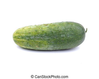 cucumbers on white background