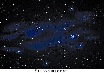 Milky way galaxy with stars - Milky way galaxy black vector...