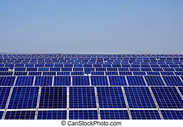 Photovoltaics panels and blue sky