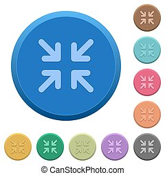 Embossed minimize buttons - Set of round color embossed...