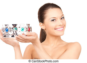 lovely woman in crown - picture of lovely woman in crown...