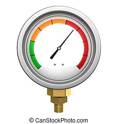 manometer 3d isolated - 3d illustration of manometer or...