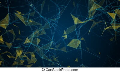 Abstract network background Seamless loop. HD Resolution