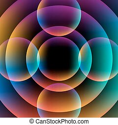 Abstract circle vibrant background