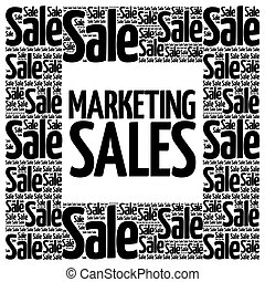Marketing SALES words cloud, business concept background
