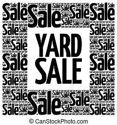 YARD SALE words cloud, business concept background