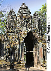 Angkor Thom, Siem Reap, Cambodia - north gate Angkor Thom,...